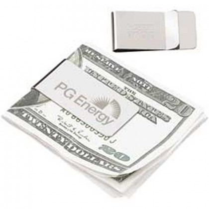 Chrome Money Clip Promotional Custom Imprinted With Logo
