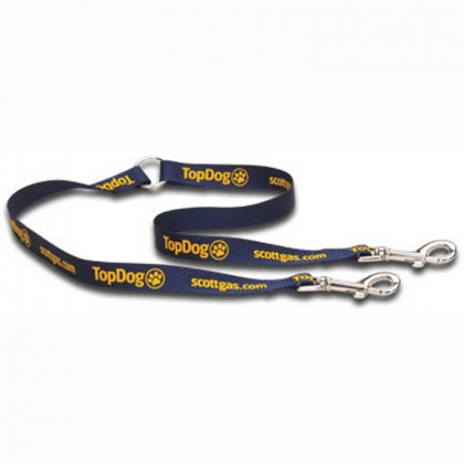 Double Pet Leash Promotional Custom Imprinted With Logo