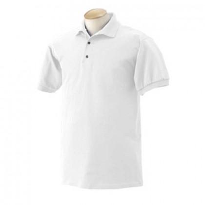 Gildan Cotton Sport Shirt - White Promotional Custom Imprinted With Logo