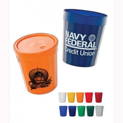 Fluted Stadium Cup - 16 Oz Promotional Custom Imprinted With Logo