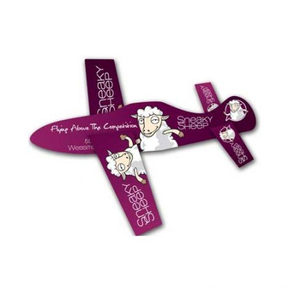 Paper Airplane Glider - UV Coated Promotional Custom Imprinted With Logo