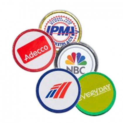 Round Coin w/ Label Promotional Custom Imprinted With Logo