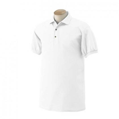 Gildan 50/50 Sport Shirt - White Promotional Custom Imprinted With Logo