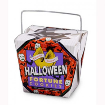 halloween cookie pail promotional custom imprinted with logo fortune cookies
