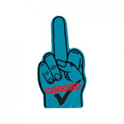 Spirit 18 in. Middle Finger Promotional Custom Imprinted With Logo