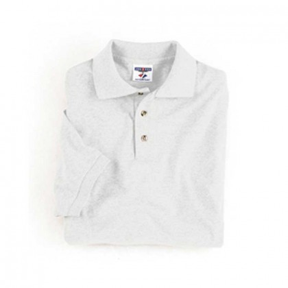 Jerzees Cotton/Poly Golf Shirt - White Promotional Custom Imprinted With Logo