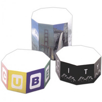 """4"""" Octagon Shaped Sticky Note Cube - 400 Sheets Promotional Custom Imprinted"""