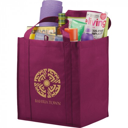 The Hercules Large Grocery Tote - Burgundy