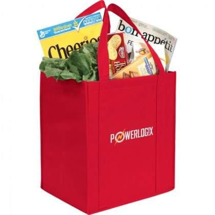 The Hercules Large Grocery Tote - Red
