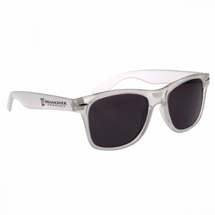 Custom Company Logo Sunglasses for Promotional Advertising - Frosted White