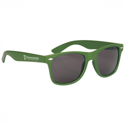 Custom Company Logo Sunglasses for Promotional Advertising - Kelly Green