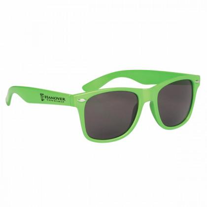 Custom Company Logo Sunglasses for Promotional Advertising - Lime Green
