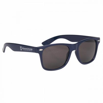 Custom Company Logo Sunglasses for Promotional Advertising - Navy Blue