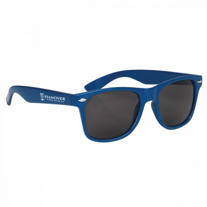 Custom Company Logo Sunglasses for Promotional Advertising - Royal Blue