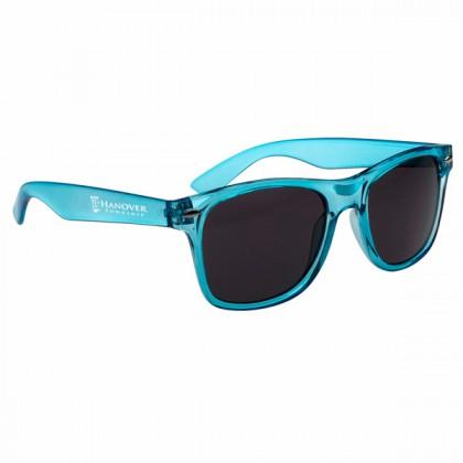 Custom Company Logo Sunglasses for Promotional Advertising - Translucent Blue