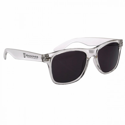 Custom Company Logo Sunglasses for Promotional Advertising -  Translucent Clear