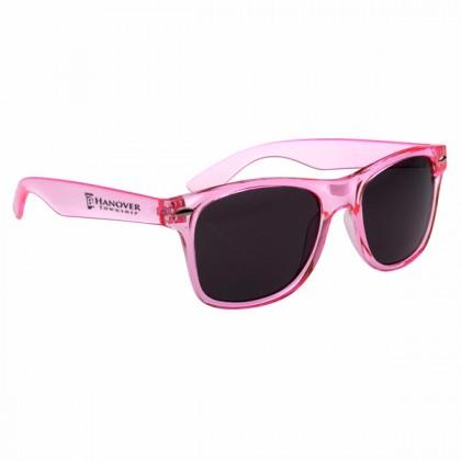 Custom Company Logo Sunglasses for Promotional Advertising - Translucent Pink