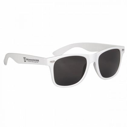 Custom Company Logo Sunglasses for Promotional Advertising - White