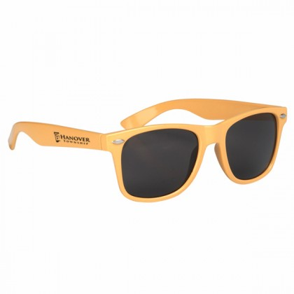 Custom Company Logo Sunglasses for Promotional Advertising - Yellow