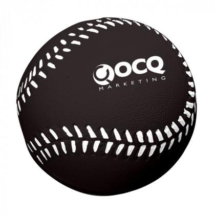 Baseball Stress Toy Advertising Products | Stress Baseballs - Black