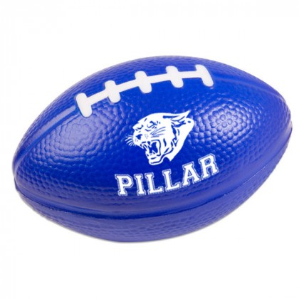 Football Stress Ball - Reflex blue