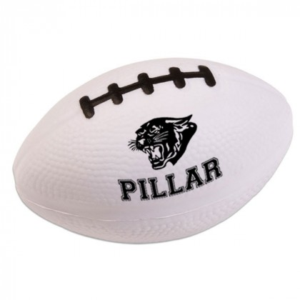 Football Stress Ball - White