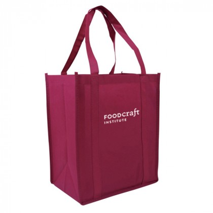 Recycled Shopping Tote - Burgundy