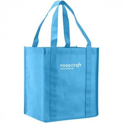 Recycled Shopping Tote - Carolina Blue