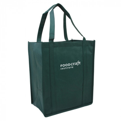 Recycled Shopping Tote - Hunter Green