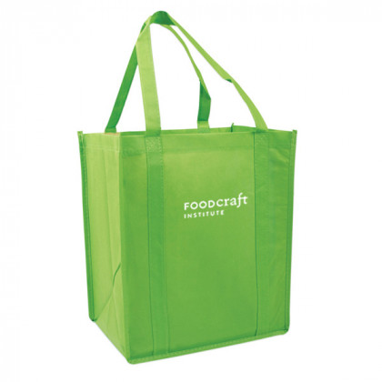 Recycled Shopping Tote - Lime Green