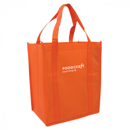 Recycled Shopping Tote - Orange