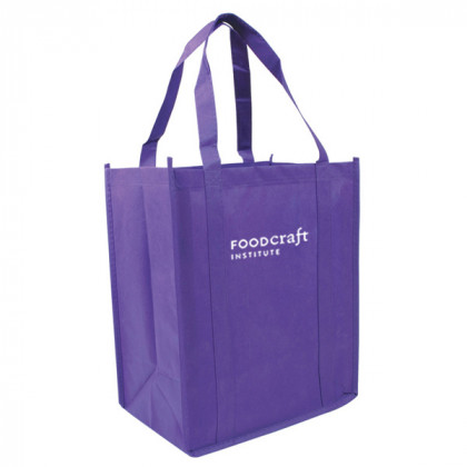 Recycled Shopping Tote - Purple