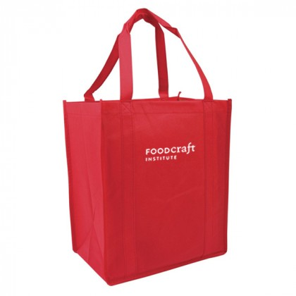 Recycled Shopping Tote - Red