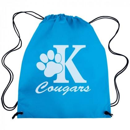 Colorful Non-Woven Drawstring Backpack– Best Eco-Friendly Drawstring Backpacks - Carolina Blue