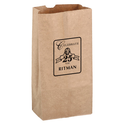 Natural Grocery Bag 6 x 12.5 Inches