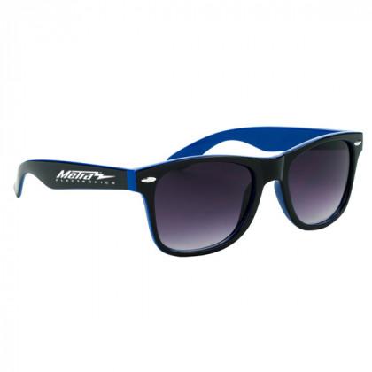 Two-Tone Malibu Sunglasses- Blue and Black