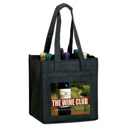 Vineyard Six Bottle Wine Bag - 4-Color Process