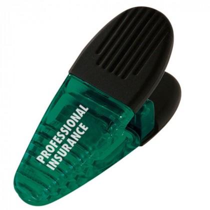 Translucent Power Clips Logo Imprinted - Dark Green