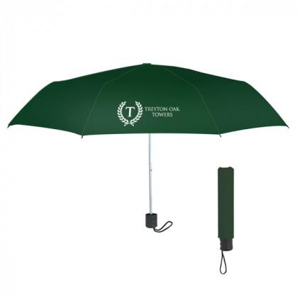 Telescopic Budget Custom Promotional Umbrella-42 Inch - Forest Green