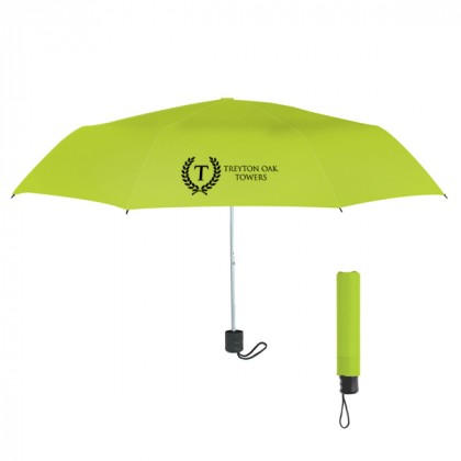 Telescopic Budget Custom Promotional Umbrella-42 Inch - Lime