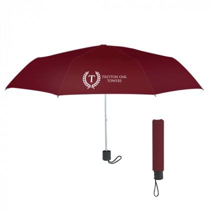 Telescopic Budget Custom Promotional Umbrella-42 Inch - Maroon