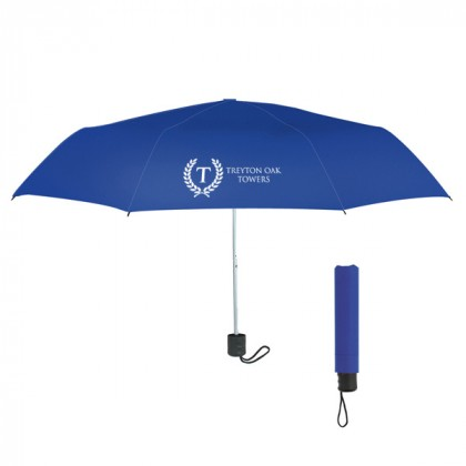 Telescopic Budget Custom Promotional Umbrella-42 Inch - Royal Blue