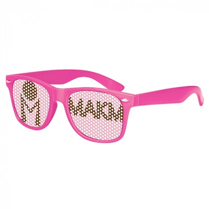 Retro Custom Promotional Sunglasses with Logo Lenses-Branded Giveaways Pink
