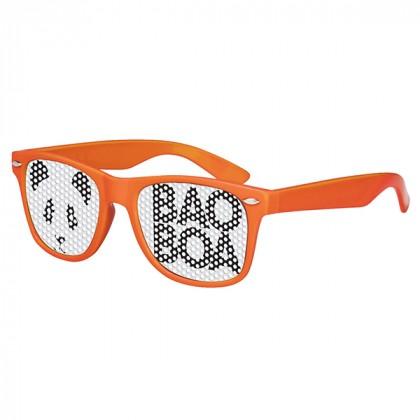 Retro Custom Promotional Sunglasses with Logo Lenses-Branded Giveaways Orange
