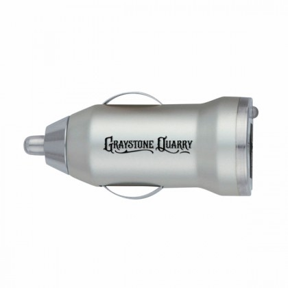 On-The-Go Car Charger - Matte Silver