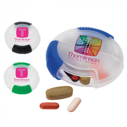 Wholesale Medication Dispensers | Custom Promotional Full Color Pill Dispensers