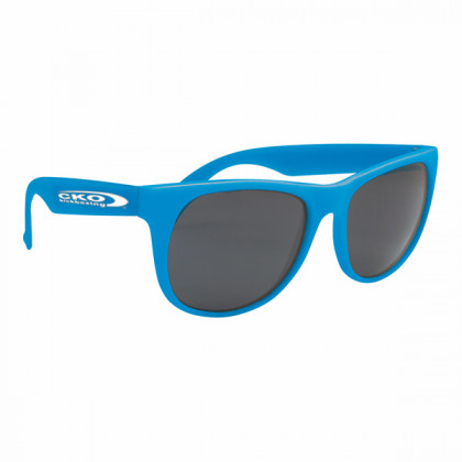 Rubberized Sunglasses - Blue/blue