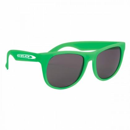 Rubberized Sunglasses - Green/green