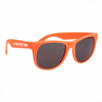 Rubberized Sunglasses - Orange/orange