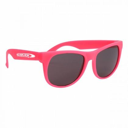 Rubberized Sunglasses - Pink/pink